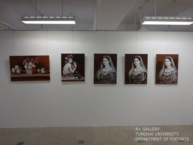 [A+藝術空間] 古典油畫作品臨摹成果展-大學部西畫媒材運用