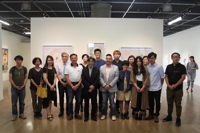 美術系「膠彩畫夏令研習營」 分享交流創作經驗