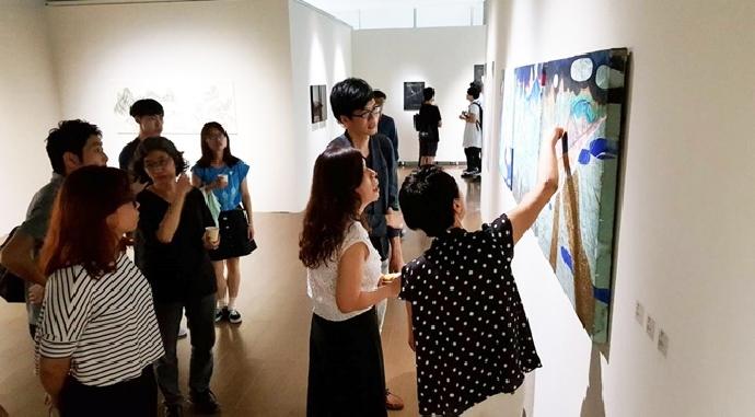 東海美術系 暑期「膠彩畫夏令研習營」盛會